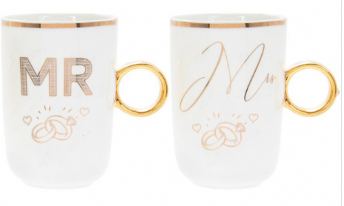 MR & MRS RING MUG SET